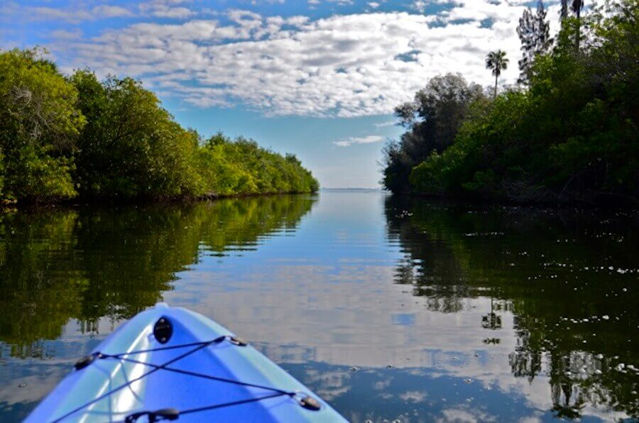 Kayaking in indian River lagoon