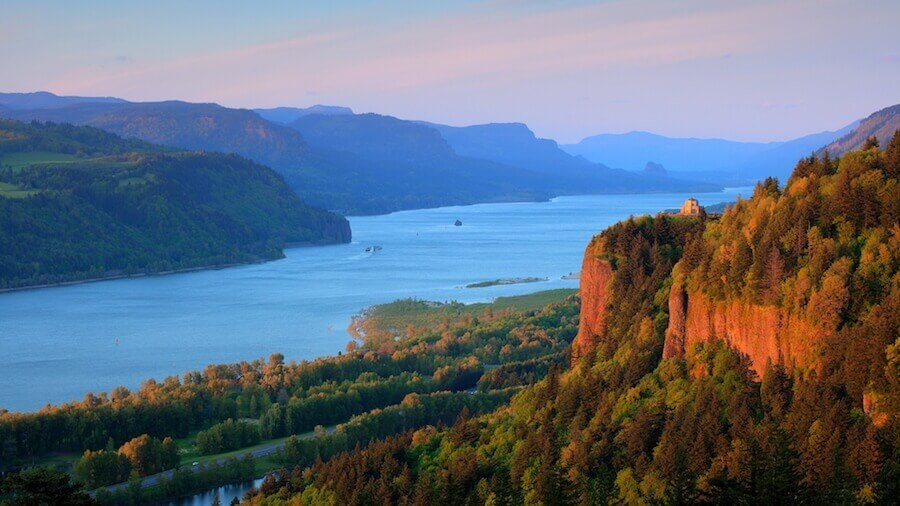Kayaking on Columbia River in Oregon
