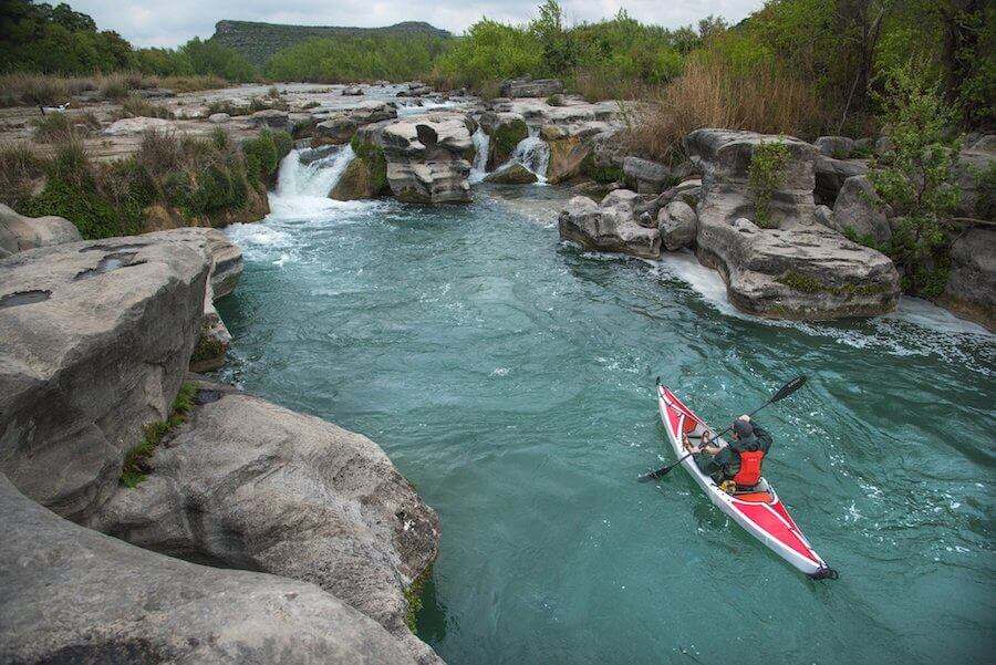 Kayaking on devils river in texas