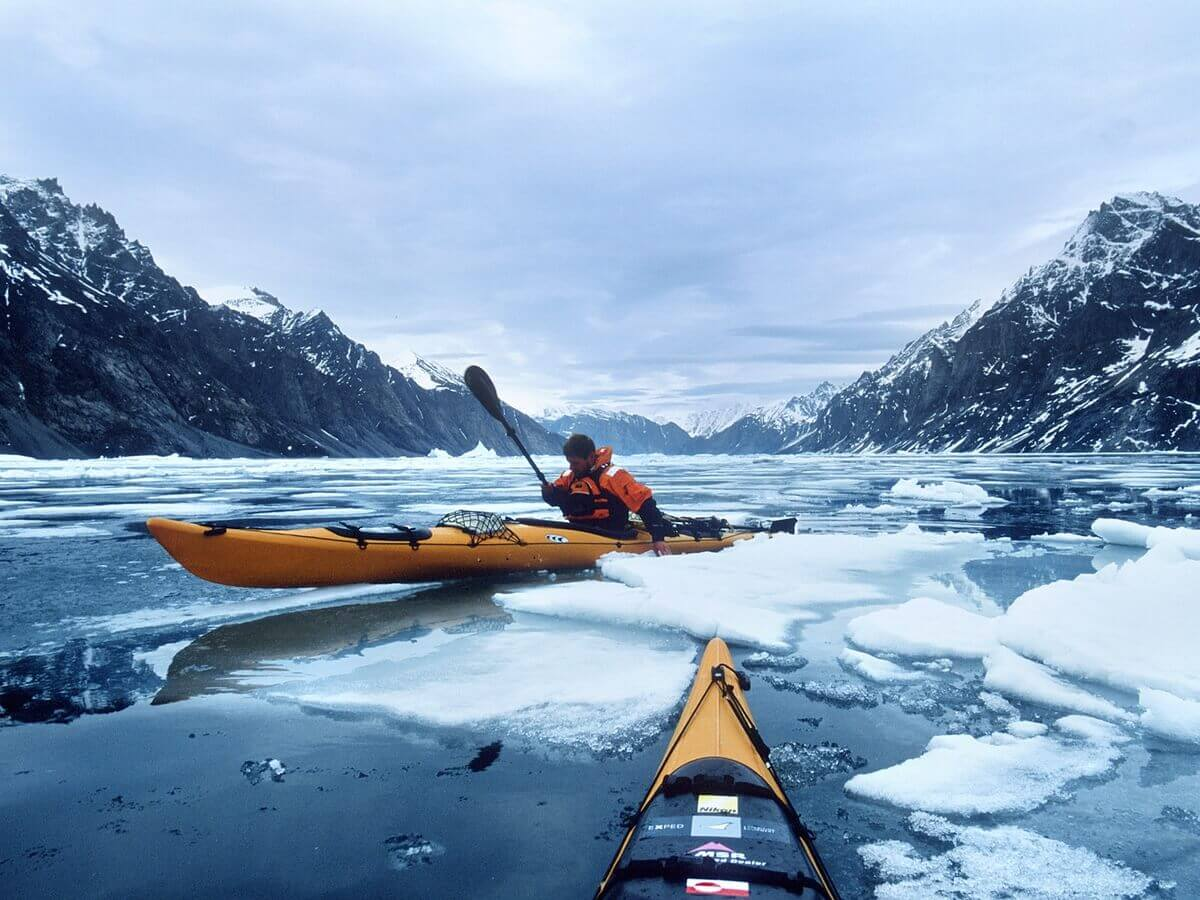 kayaking in Svalbard, Norway